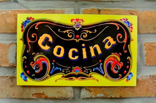 chapa retro vintage filete - cocina - 25 x 15 cm