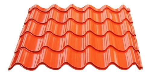 chapa simil teja techo verona roja