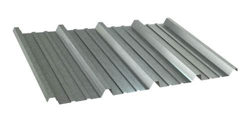 chapa techo cincalum calibre  25 trapezoidal común.
