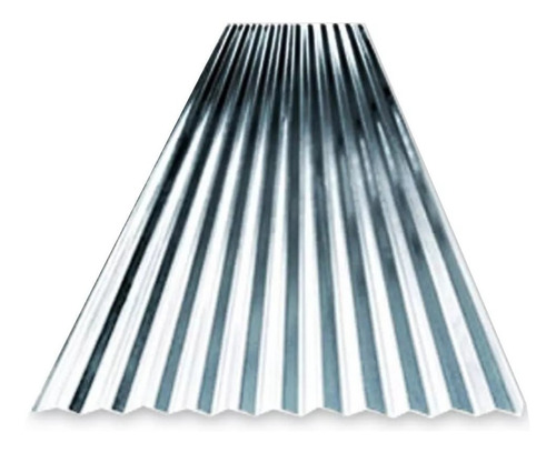 chapa techo metalica sinusoidal acanalada (2.76x0.86)