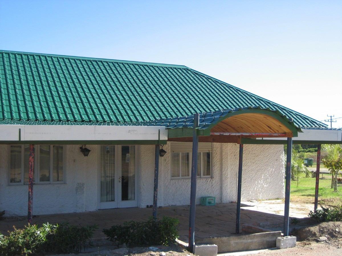Chapa teja aluminizada trapezoidal cal 26 315 00 en for Colores de techos de casas