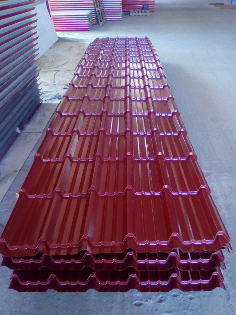 Chapa teja galvanizada color terracota cal 24 mt oferta - Precio chapa galvanizada ...