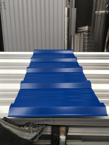 chapa trapezoidal prepintada color azul - por 2 metros!!