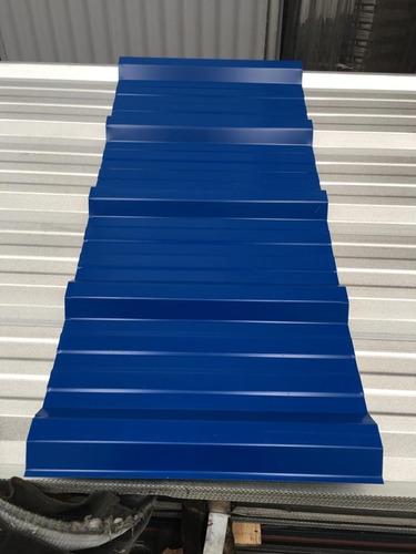 chapa trapezoidal prepintada color azul - por 4 metros!!