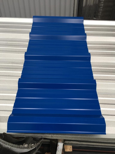 chapa trapezoidal prepintada color azul por metro - oferta!
