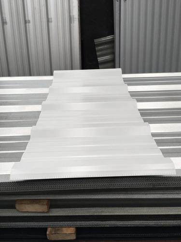 chapa trapezoidal prepintada color blanco - por 4 metros!!