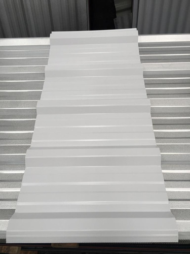 chapa trapezoidal prepintada color blanco - por 5 metros!!