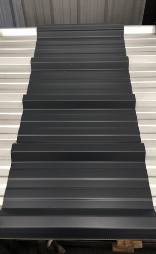chapa trapezoidal prepintada color gris - por 2 metros!!