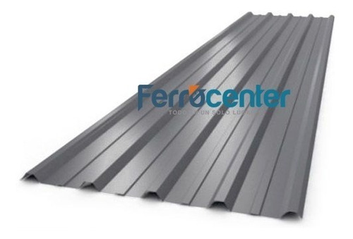 chapa trapezoidal prepintada color gris - por 4 metros!!