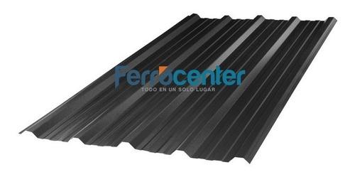 chapa trapezoidal prepintada color negro - por 5 metros!!
