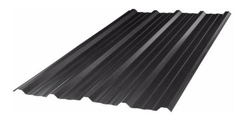 chapa trapezoidal prepintada color negro por metro - oferta!