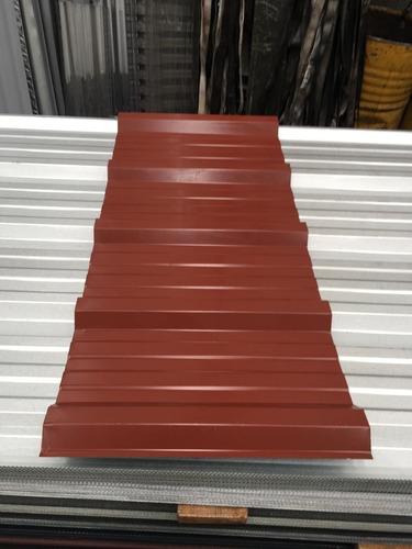chapa trapezoidal prepintada color rojo - por 2 metros!!