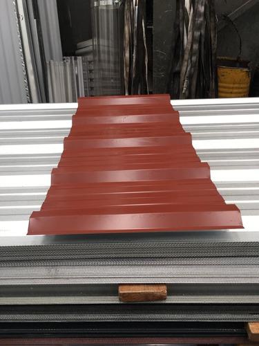 chapa trapezoidal prepintada color rojo - por 3 metros!!