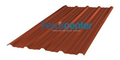 chapa trapezoidal prepintada color rojo - por 4 metros!!