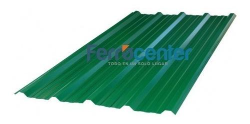 chapa trapezoidal prepintada color verde por metro - oferta!