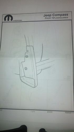 chapaletas delanteras para jeep compass ( original )