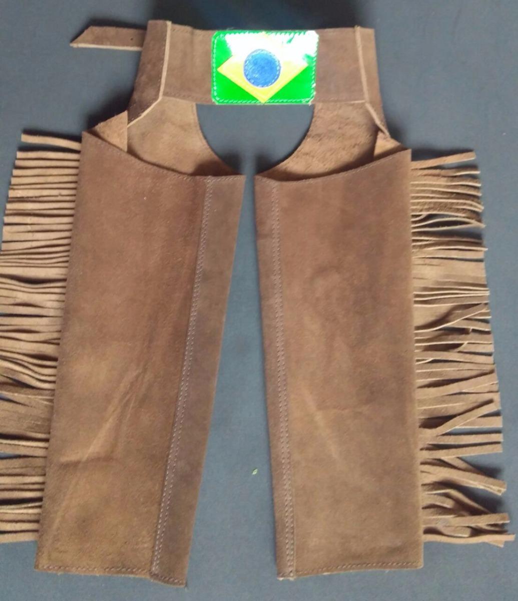 8202f84b3f358 Chaparreira Infantil Cavalgada Cowboy Menino Mega Oferta - R  145