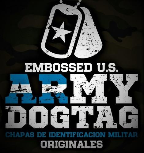 chapas de identificacion militar originales dog tags usa