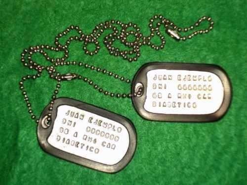 Chapas De Identificacion Militares Originales Dog Tags 410 00