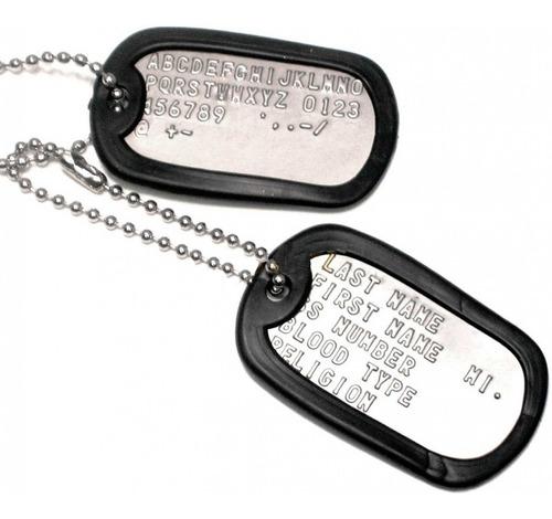 chapas dog tags de identificacion militar originales militar