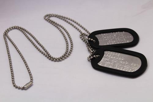 chapas militares dogtags importadas usa con grabado
