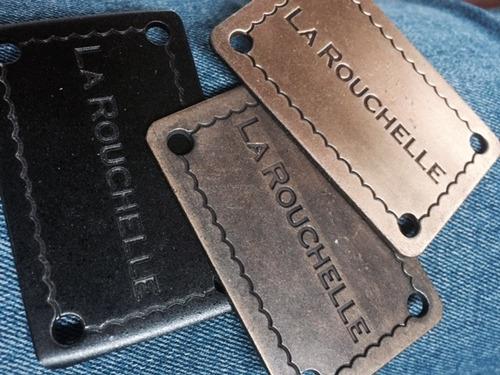 chapas para carteras (con tu marca) 4 x 2 cm