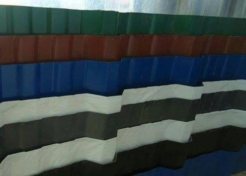 chapas para techo color c25 x mt  al mejor $  zona norte