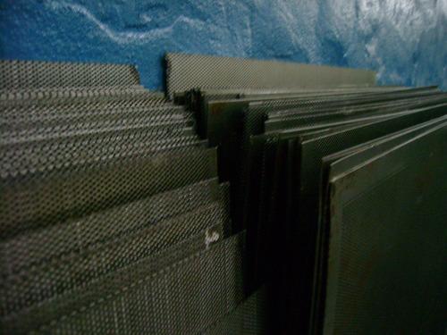chapas perforadas, recortes, decoración, zarandas