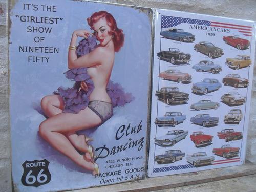 chapas retro vintage motivos años 60,medidas 30 x 40  envios