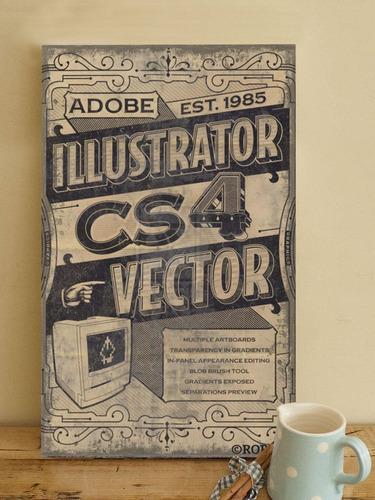 chapas vintage retro impresas. diseños exclusivos. 20x33cm