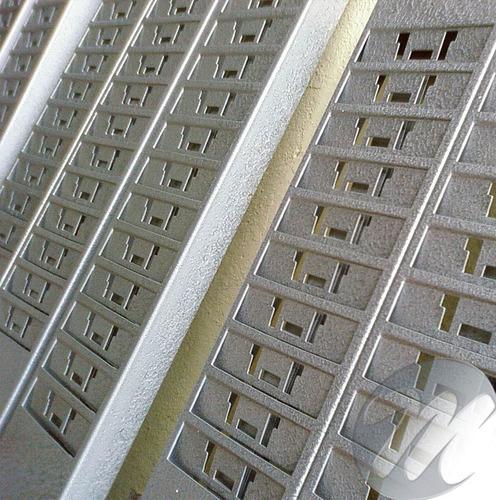 chapeira 10 lugares - porta cartões de ponto - em aço