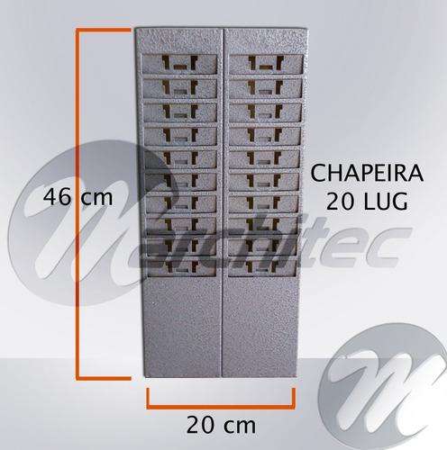 chapeira 20 lugares  - porta cartões de ponto - em aço
