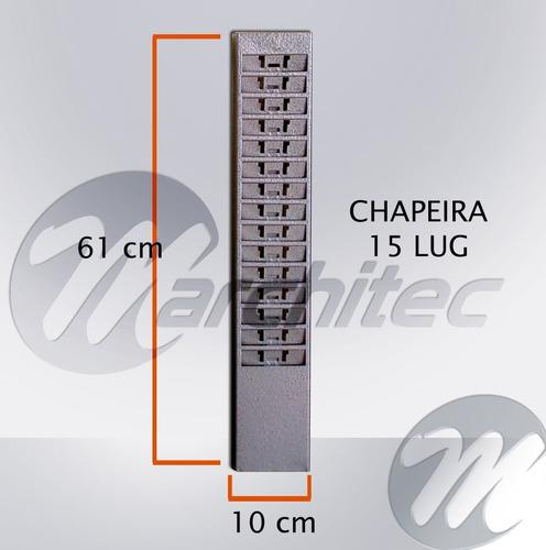 chapeira chapeleira metal 15 lugares porta cartões de ponto
