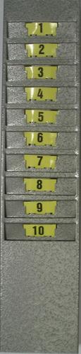 chapeira porta-cartão de aço para 10 cartões (com numeração)
