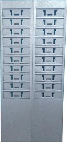 chapeira porta-cartão de aço para 20 cartões de ponto c/nota
