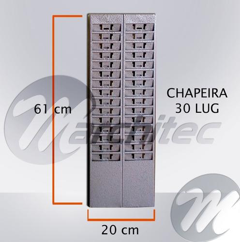 chapeiro ou chapeira 30 lug - suporte porta cartões de ponto