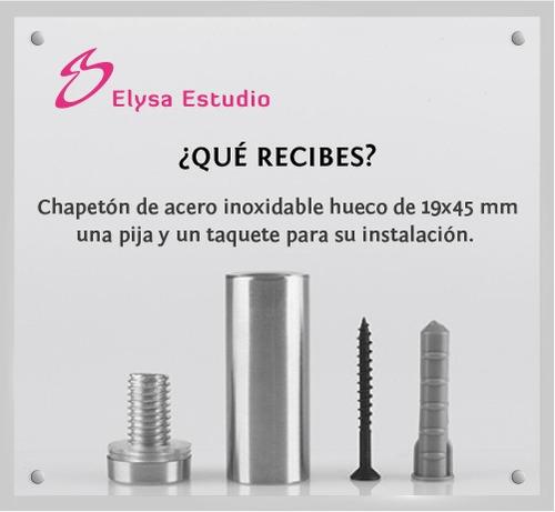 chapetones, separadores de acero inoxidable 19x45mm