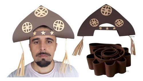 chapéu + 1 cartucheira cangaceiro lampião festa junina kit