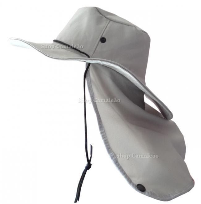 Chapéu Australiano C  Protetor De Nuca P  Pescador Pedreiro - R  24 ... 42477ffe188