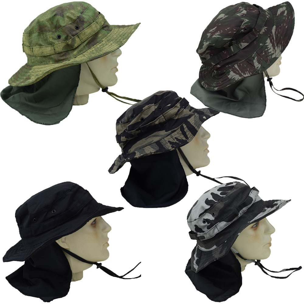 d64a176204955 chapéu australiano camuflado protetor nuca pescador rip stop. Carregando  zoom.