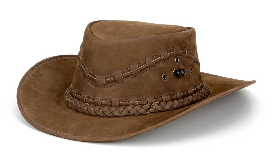 chapeu australiano country western masculino couro legítimo. Carregando  zoom. 72007761239