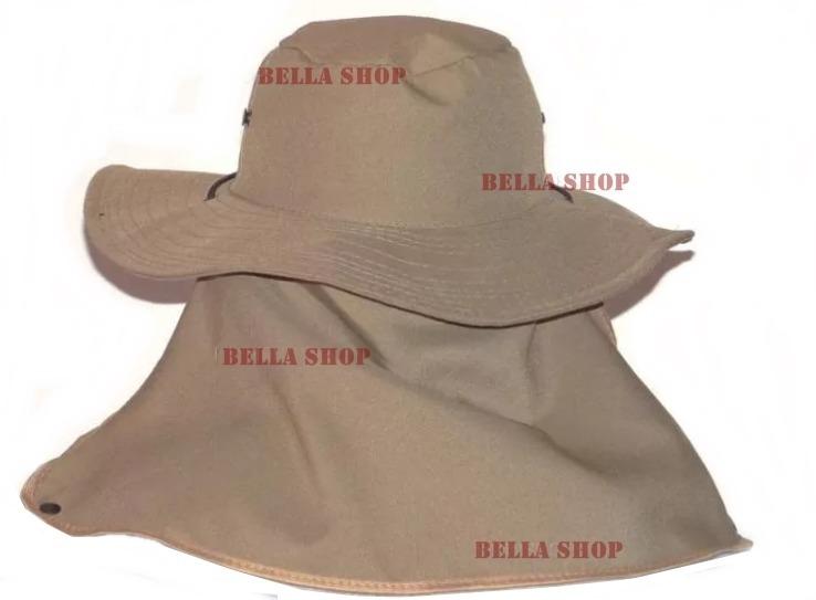 Chapéu Australiano C protetor De Nuca P  Pescador Pedreiro - R  15 ... 14e0179f9fe