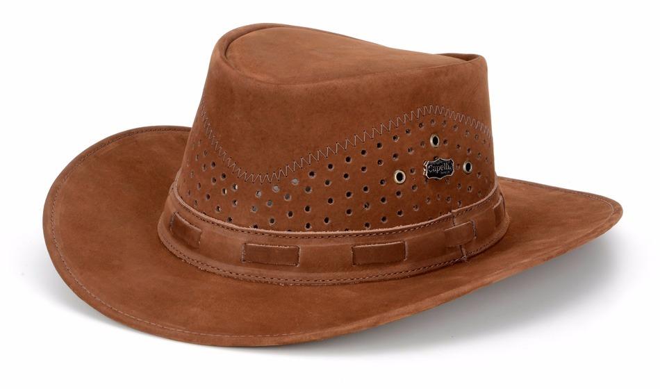 chapeu australiano masculino em couro legítimo capelli boots. Carregando  zoom. e7efb5ab880