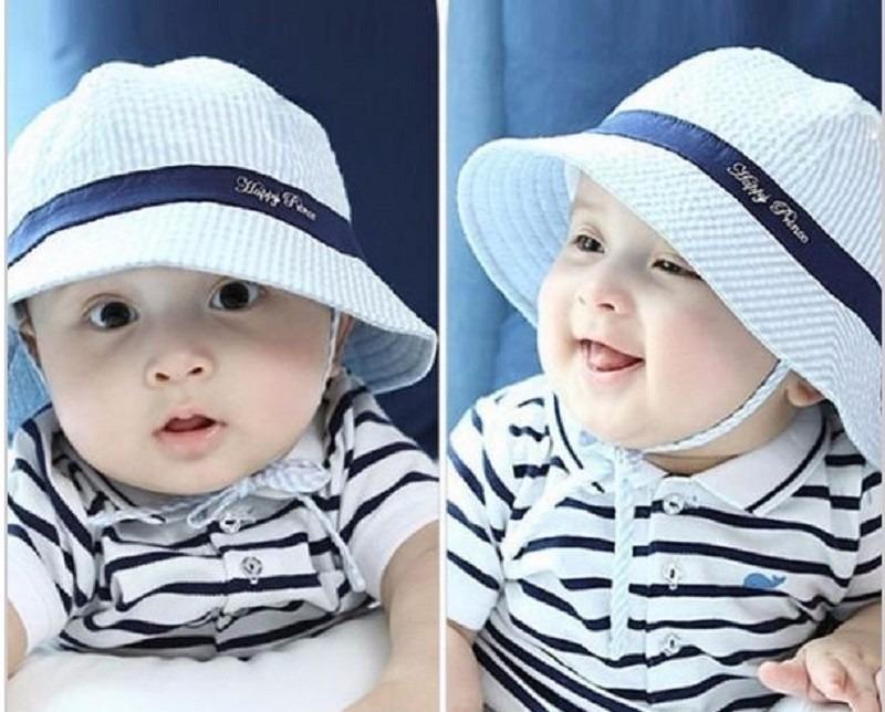 Chapéu Bebê Proteção Solar Uv Sol Protetor Bonê Praia Sunga - R  35 ... 81b227a029d