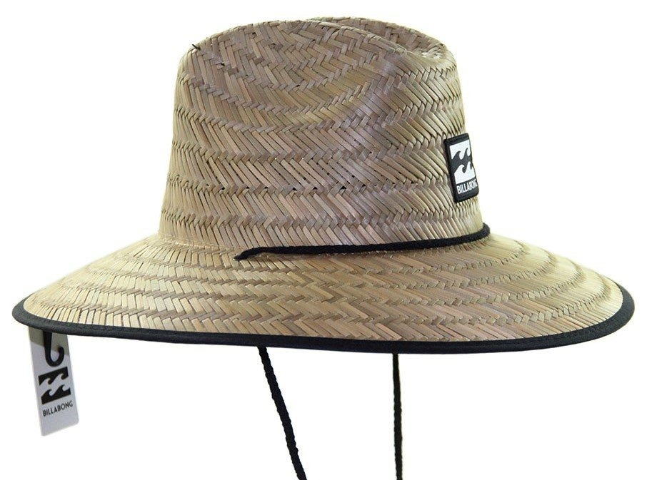 b4ef9312273b5 chapéu billabong tides de palha cor natural cordão preto. Carregando zoom.