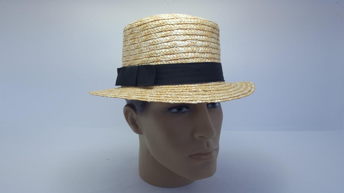 0d5d66b23 chapéu boater palheta pagode aba reta palha dourada. Carregando zoom.