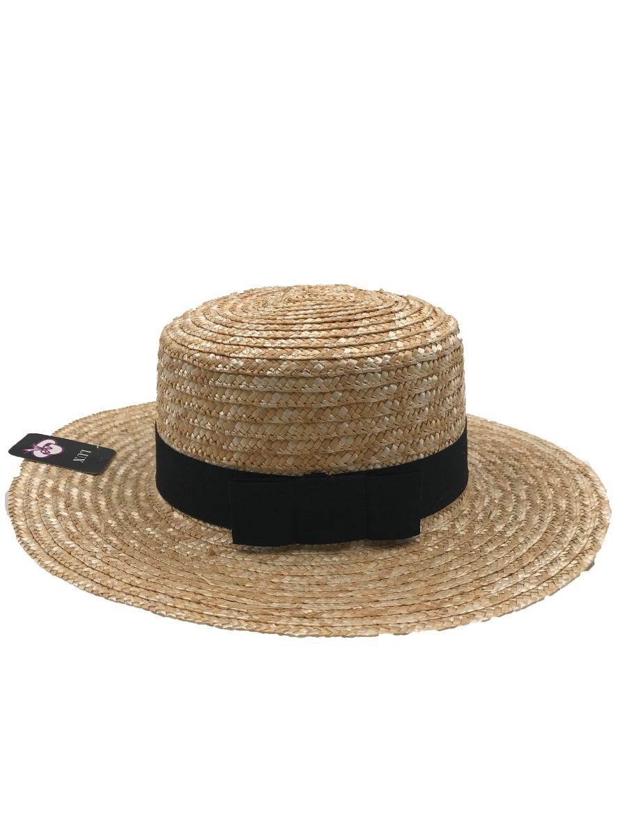 chapéu boater palheta pagode aba reta palha dourada. Carregando zoom. 1be638a0a36