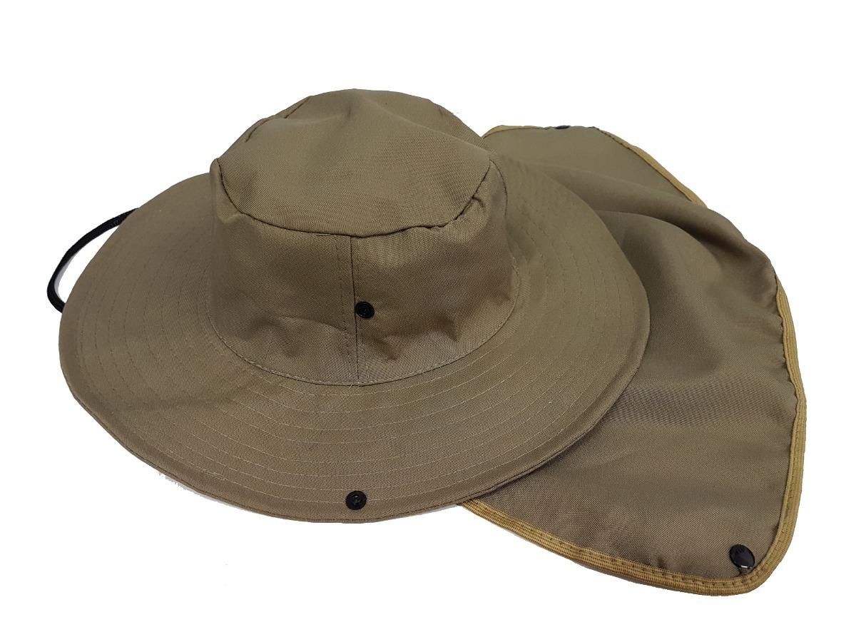 chapéu boné c  protetor de nuca p  pescador mateiro pedreiro. Carregando  zoom. e3f2a7235d4