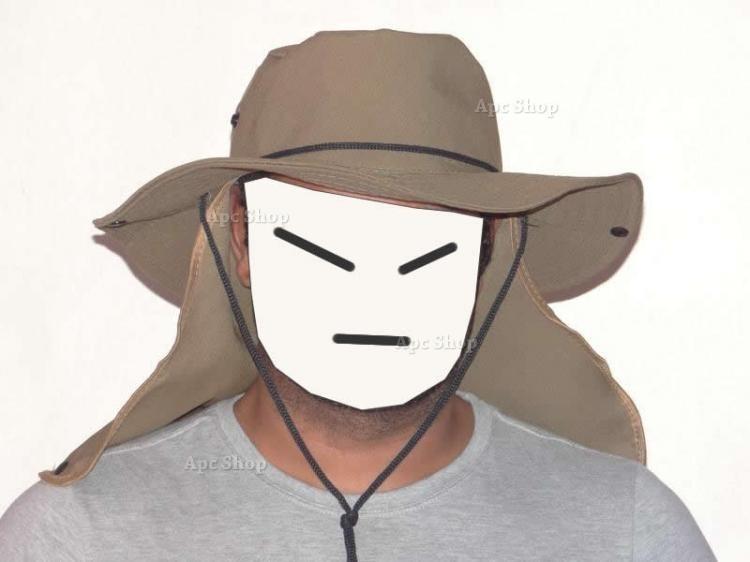 Chapéu Boné Sol Protetor De Nuca P  Pescador Ou Caçador - R  20 d97fb73750b