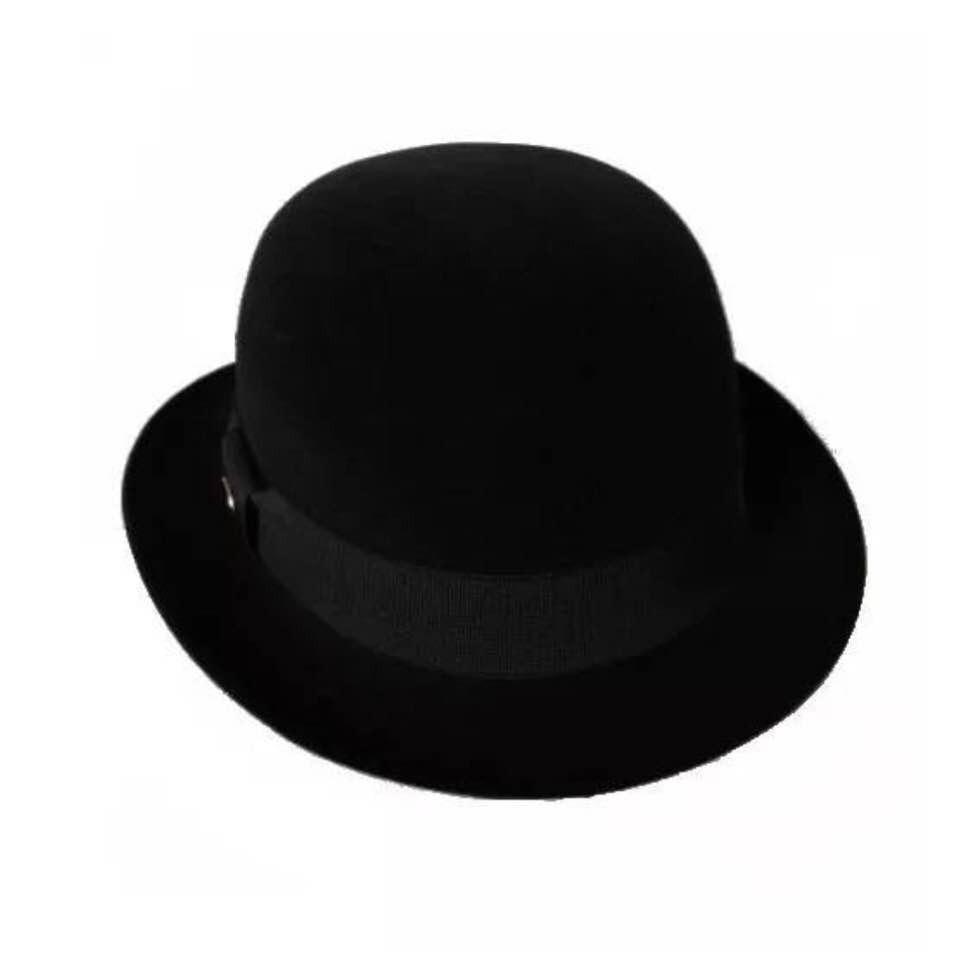 chapéu bowler coco chaplin masculino feminino feltro preto. Carregando zoom. 77a4654c355